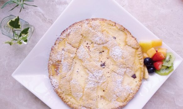 RICOTTA TART WITH WHITE AND DARK CHOCOLATE